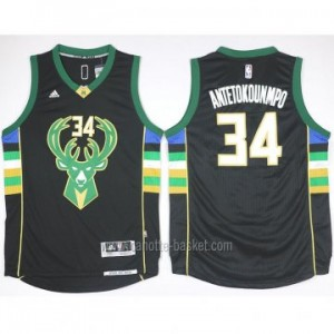 Maglie nba Milwaukee Bucks Giannis Antetokounmpo #34 nero 15-16 stagione
