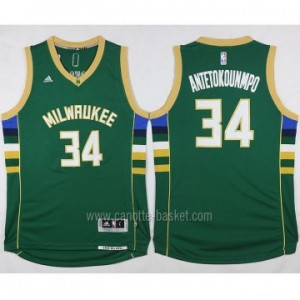 Maglie nba Milwaukee Bucks Giannis Antetokounmpo #34 verde 2016 stagione