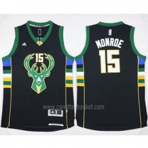 Maglie nba Milwaukee Bucks Greg Monroe #15 nero 2016 stagione