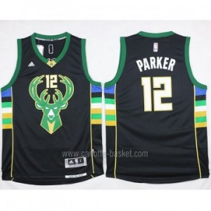 Maglie nba Milwaukee Bucks Jabari Parker #12 nero 15-16 stagione