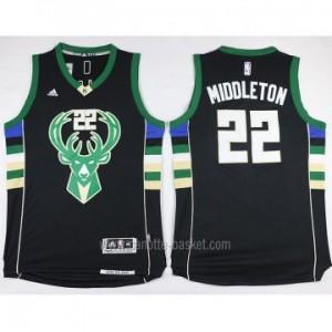 Maglie nba Milwaukee Bucks Khris Middleton #22 nero 2016 stagione