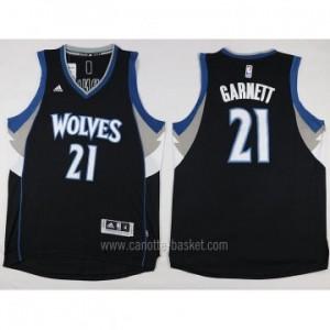 Maglie nba Minnesota Timberwolves Kevin Garnett #21 nero 15-16 stagione