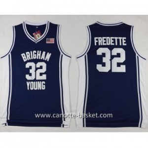 Maglie nba NCAA Brigham Young University Jimmer Fredette #32 blu marino