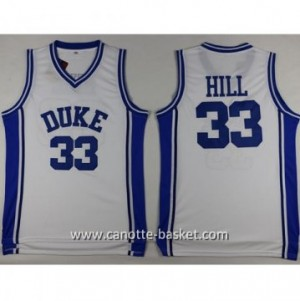 Maglie nba NCAA Duke University HILL #33 bianco
