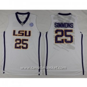 Maglie nba NCAA Louis University Jonathon Simmons #25 bianco