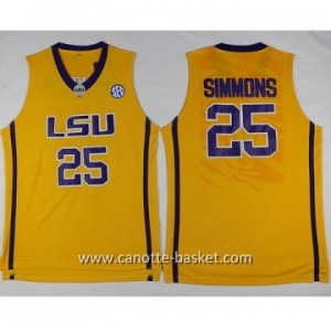 Maglie nba NCAA Louis University Jonathon Simmons #25 giallo
