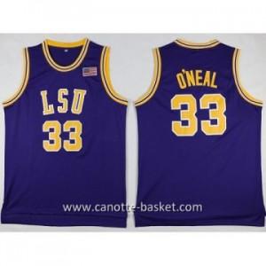 Maglie nba NCAA O'Neal Louis University Shaquille O'Neal #33 porpora