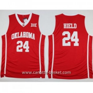 Maglie nba NCAA University of Oklahoma Buddy Hield #24 rosso