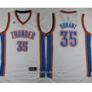 Maglie nba Oklahoma City Thunde Kevin Durant #35 bianco 2016 stagione