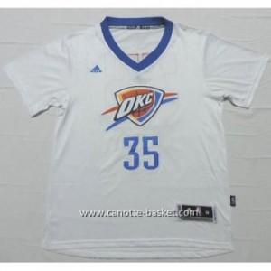 Maglie nba Oklahoma City Thunde Kevin Durant #35 bianco manica corta