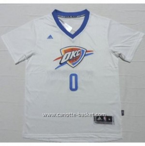 Maglie nba Oklahoma City Thunde Russell Westbrook #0 bianco manica corta
