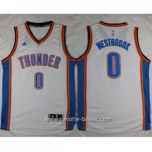 Maglie nba Oklahoma City Thunde Russell Westbrook #0 bianco 2016 stagione