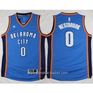 Maglie nba Oklahoma City Thunde Russell Westbrook #0 blu 2016 stagione