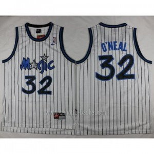 Maglie nba Orlando Magic Shaquille O'Neal #32 strisce bianco