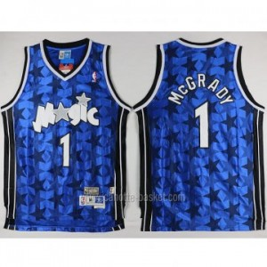Maglie nba Orlando Magic Tracy McGrady #1 blu Stella nera