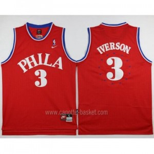 Maglie nba Philadelphia 76ers Allen Iverson #3 Nike rosso