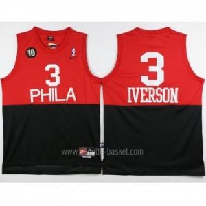 Maglie nba Philadelphia 76ers Allen Iverson #3 Rosso nero