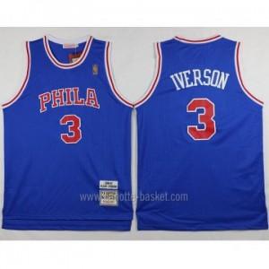 Maglie nba Philadelphia 76ers Allen Iverson #3 blu classico