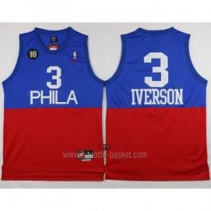 Maglie nba Philadelphia 76ers Allen Iverson #3 blu rosso