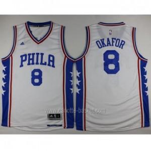 Maglie nba Philadelphia 76ers Jahlil Okafor #8 bianco