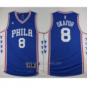 Maglie nba Philadelphia 76ers Jahlil Okafor #8 blu