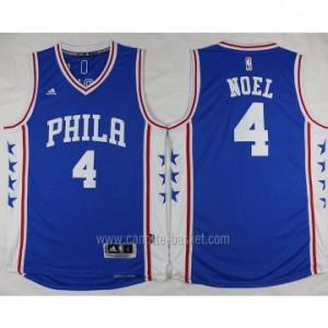 Maglie nba Philadelphia 76ers Nerlens Noel #4 blu stagione 2016