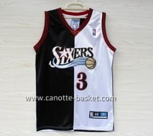 Maglie nba Philadelphia 76ers Allen Iverson #3 nero bianco