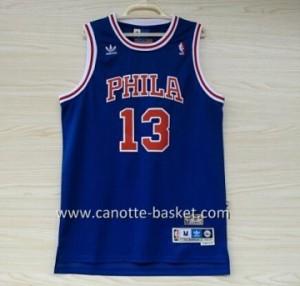 Maglie nba Philadelphia 76ers Wilt Chamberlain #13 blu