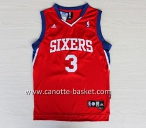Maglie nba Philadelphia 76ers Allen Iverson #3 rosso