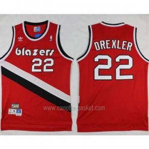 Maglie nba Portland Blazers Clyde Drexler #22 rosso Retro