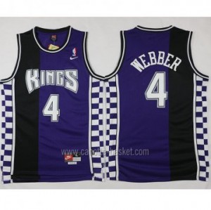 Maglie nba Sacramento Kings Chris Webber #4 Retro porpora