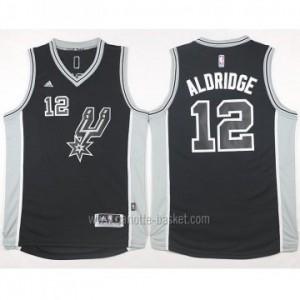 Maglie nba San Antonio Spurs LaMarcus Aldridge #12 nero 2016 stagione