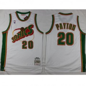Maglie nba Seattle SuperSonics Gary Dwayne Payton #20 bianco classico