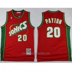 Maglie nba Seattle SuperSonics Gary Dwayne Payton #20 rosso classico