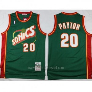 Maglie nba Seattle SuperSonics Gary Dwayne Payton #20 verde classico