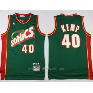 Maglie nba Seattle SuperSonics Shawn Kemp #40 verde classico