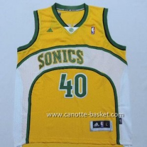 Maglie nba Seattle SuperSonics Shawn Kemp #40 giallo