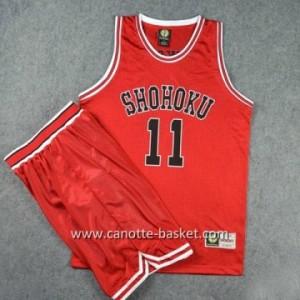 Maglie Slam Dunk Shohoku Kaede Rukawa #11 rosso