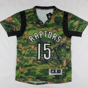 Maglie nba Toronto Raptors Anthony Bennett #15 manica corta camuffamento