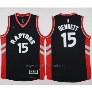 Maglie nba Toronto Raptors Anthony Bennett #15 nero 2016 stagione