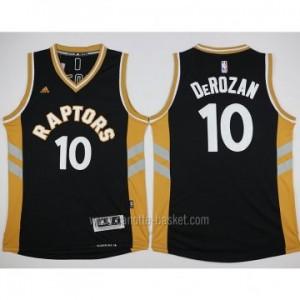 Maglie nba Toronto Raptors DeMar DeRozan #10 giallo nero 2016 stagione
