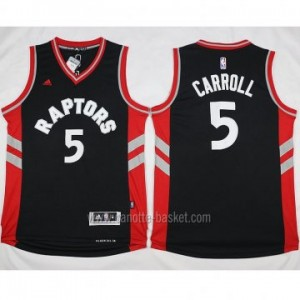 Maglie nba Toronto Raptors DeMarre Carroll #5 nero 2016 stagione