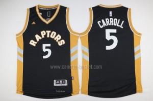 Maglie nba Toronto Raptors DeMarre Carroll #5 nero giallo 2016 stagione