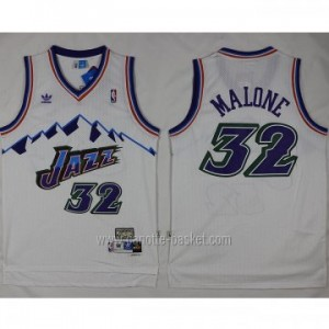 Maglie nba Utah Jazz Karl Malone #32 bianco snow Mountain Editio