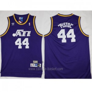 Maglie nba Utah Jazz Pistol Pete Maravich #44 porpora