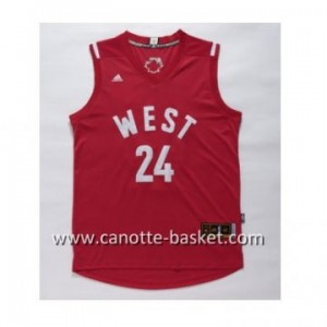 Maglie 2016 West All-Star Kobe Bryant #24 rosso