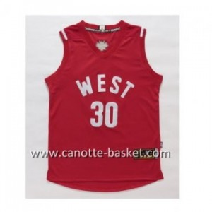 Maglie 2016 West All-Star Stephen Curry #30 rosso