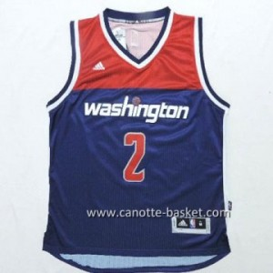 Maglie nba Washington Wizards John Wall #2 blu marino