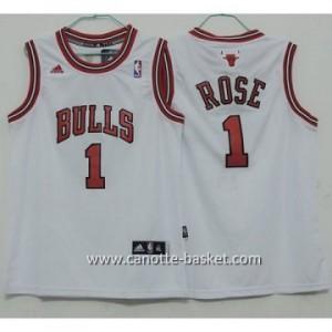 Maglie nba bambino Chicago Bulls Derrick Rose #1 bianco