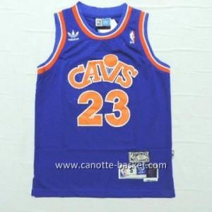 Maglie nba bambino Cleveland Cavalier LeBron James #23 retro blu